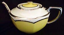 Mid Century Modern Yellow Silver Teapot Manning Bowman Fraunfelter