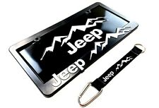 Jeep-License Plate-Frame-Lanyard Kit Wrangler-Rubicon-Cherokee-Renegade-Compass