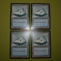 Snow-Covered Island x4 Ice Age 4x Playset Magic the Gathering MTG