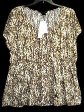 NWT Calvin Klein Jeans Woman 1X Babydoll Empire Top Camouflage NEW Cat Shelter