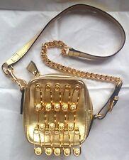 GIANNI VERSACE BAG GOLD PINS CROSSBODY/SHOULDER VERSUS VINTAGE