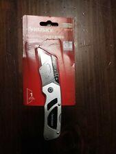 HUSKY Utility Knife Compact Folding Lock Back Pocket Knife New