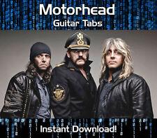 MOTORHEAD ROCK GUITAR TAB TABLATURE DOWNLOAD SONG BOOK SOFTWARE TUITION
