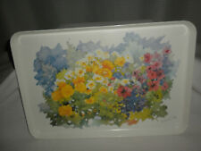 """VTG Pretty MONZA R2S 17 ½x12x1/4"""" FLOWERS Serving Tray Made in ITALY"""