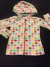 Oilily 128 (7-8), White Multicolor Prints Hooded Jacket PLAY