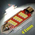 2 LED Festoon 41mm 12SMD 4014 Canbus Lamps Lights White Inner Plate Car Xenon