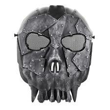 Skull Skeleton Airsoft Paintball Full Face Game Protect Mask Metal Eye Mesh
