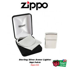 Zippo Sterling Silver Armor Lighter, High Polish #26