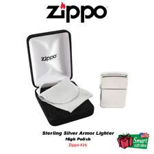 Zippo Sterling Silver Armor Lighter, High Polish #26