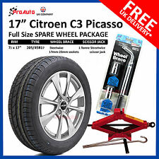 "CITROEN C3 PICASSO 2009-2017 17"" FULL SIZE ALLOY SPARE WHEEL & TYRE  + TOOL KIT"