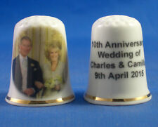 Birchcroft China Thimble -- Prince Charles & Camilla Anniversary with Free  Box