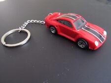 Custom Porsche 959 / 911 die cast key chain key ring / hang red sports car