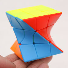 Z-CUBE 3X3x3 Twisted Irregular Skewb Diamond Magic Cube Puzzle Interesting Toys