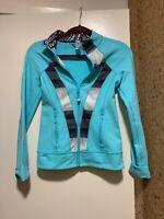 Ivviva Lululemon Girls Zip Up Athletic Jacket Size 12 Blue/white/black