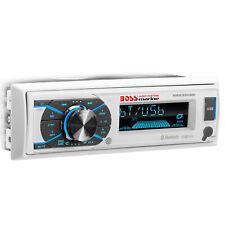 BOSS Audio Advanced Bluetooth Single DIN Marine Vehicle Audio Stereo Receiver