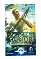 Notice jeu Nintendo Gamecube Medal of Honor Soleil Levant Instruction Booklet