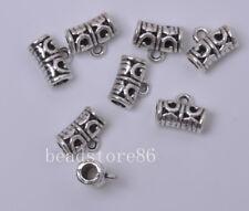 20pcs Tibetan silver tube bail connector Jewelry Connectors bails 11.5mm J3025