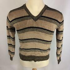 Vintage Velvet Velour 70s V Neck Sweater OG Hollywood Pimp Disco Dance Shirt M/S