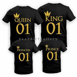 Father's Day Gift King Queen Crown Love Funny Couples Matching GOLD TOP T-Shirt