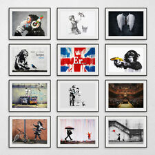More details for banksy prints wall art picture graffiti artwork decor poster print a3 a4 a5 size