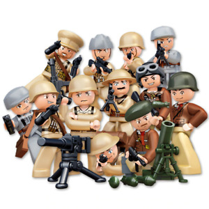 New WW2 Army Military War Figures Building Blocks Soldiers For Lego Toys Battle
