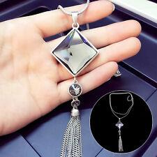 Ladies Beauty Fashion Jewelry Grade Zircon Necklace Tassel Sweater Long Chain