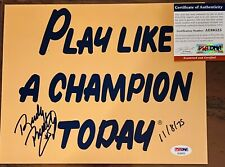 RUDY RUETTIGER RARE Signed 8x10 GOLD PLAY LIKE A CHAMPION NOTRE DAME PSA DNA COA