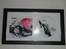 """METRIC SIGNED FRAMED """"LIVE IT OUT"""" CD COVER EMILY HAINES JAMES SHAW 4X"""