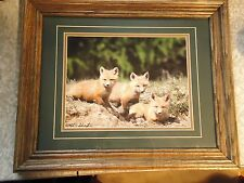 Fox print with solid frame.