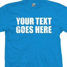 Custom Impact T-Shirt - Personalized Thick Text Block Font - All Sizes & Colors