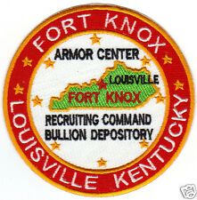 US ARMY POST PATCH, FORT KNOX KENTUCKY, ARMOR , RECRUITING , BULLION      Y