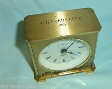 Vintage Tiffany & Co Desk Tabletop Boudoir Brass Quartz Clock 1980s Award Gift