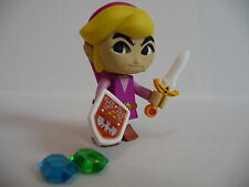 Yujin Legend of Zelda Four Swords Wind Walker Kubrick Figure Link Purple Angry