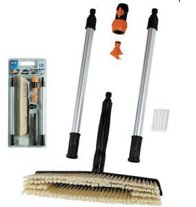 kit maxi spazzola spazzolone con prolunghe shampo pulizia lavaggio auto