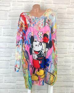 ITALY Feinstrick Tunika Long Pullover Long Shirt Pulli Kleid 42 44 46 Neu K861