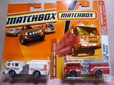 Matchbox Pierce Dash Fire Engine Diecast Car Lot: Color & Tampo Variations NIP!