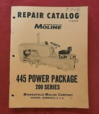 1959 MINNEAPOLIS-MOLINE 445 TRACTOR 200 SERIES POWER PACKAGE PART MANUAL CATALOG