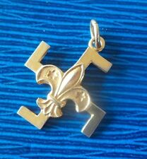 Vintage Boy Scout 9ct Yellow Gold Fylfot Thanks Badge -  c.1920/30