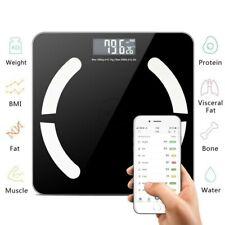 Bluetooth Körperwaage Personenwage Fitnesswaage Gewicht Waage BMI Analyse LCD DE