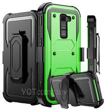 REFINED ARMOR COVER PHONE CASE & SWIVEL HOLSTER FOR LG G STYLO 2 PLUS +BUNDLE