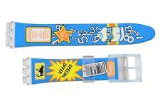 Swatch Replacement 17mm Plastic Watch Band Strap Milk Carton Design