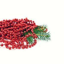 Noël Métallique Perle Boîtes Guirlande 8m X 8mm Sélection Décorations Arbre