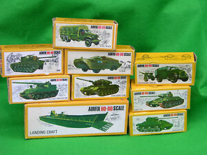 AIRFIX 1/72 HO-OO SCALE MILITARY VEHICLE, BOXED MULTI-LISTING