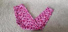 LuLaRoe OS Leggings Pink and purple Flowers