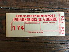 Kriegsgefangenenpost Prisonniers de guerre Postage Colis Militaria Poste