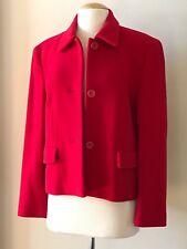 HELENE BERMAN London Red Wool Cashmere Jacket Blazer Size M ENGLAND