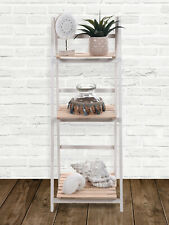 3 Layer Folding Wooden Tier Shelf Rack Home Bathroom Bedroom Storage Display