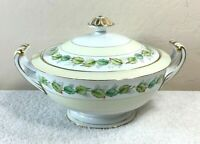 Vintage Fuji China Garland Pattern Serving Dish with Lid Occupied Japan