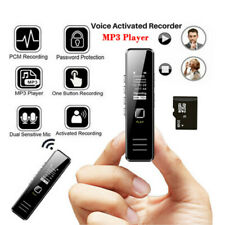 32GB Digital Audio Sound Voice Recorder MP3 Music Media Player Rechargeable NEW