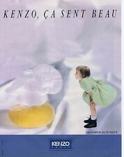 PUBLICITE ADVERTISING 045 1990 KENZO ça sent bon parfum eau de toilette   030415